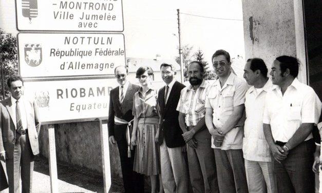 Les premiers moments du jumelage – images d'archives