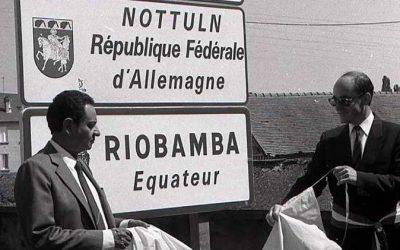 La charte d'amitié entre St-Amand-Montrond et Riobamba