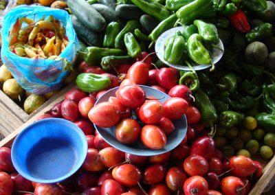 Tomates de arból au premier plan