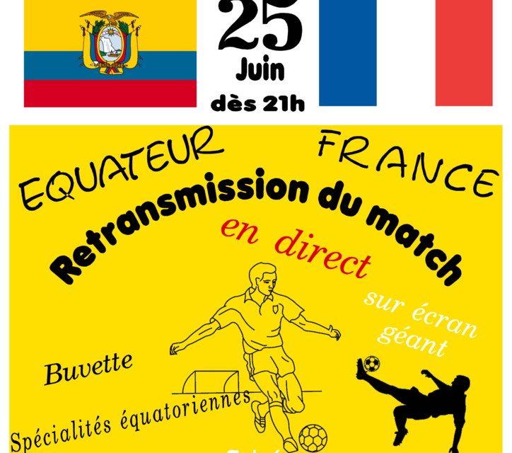 Match Équateur-France