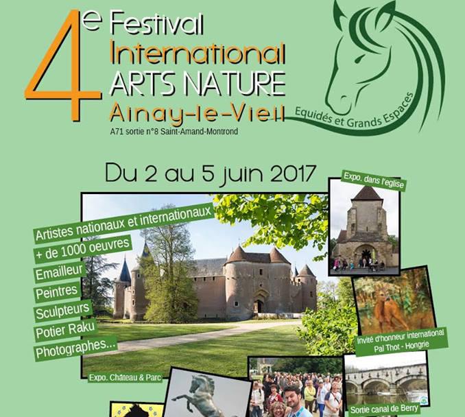 Participation au festival international d'arts nature d'Ainay-le-Vieil