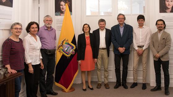 Visite à l'ambassade d'Equateur à Paris le 18 avril 2018